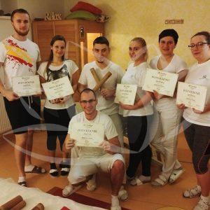 absolventi kurzu bambusová masáž