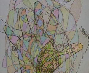 Fraktálna kresba-ruka zdravia