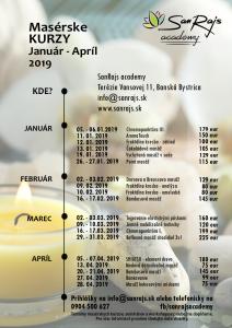 zoznam kurzov 2019