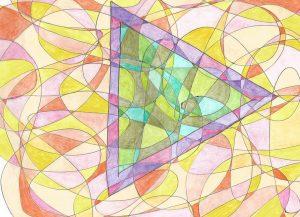 Fraktálna kresba s prvkami sakrálnej geometrie