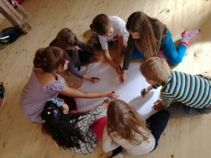 Fraktálna kresba skupinová